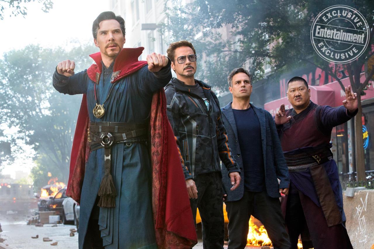 Doctor Strange, Tony Stark, Bruce Banner e Wong