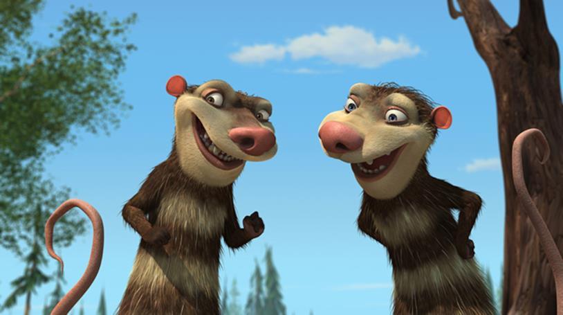 Crash e Eddie in una scena de L'era glaciale