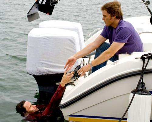 Michael C. Hall sul set del season finale della prima stagione di Dexter