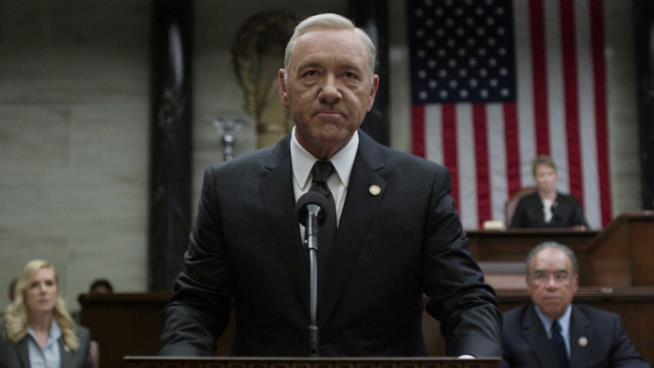 Kevin Spacey nei panni di Frank Underwood in House of Cards