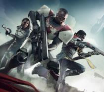 La copertina di Destiny 2 con tre guardiani in azione