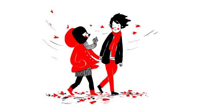 Philippa Rice e Luke Pearson si tengono per mano nel fumetto di Soppy