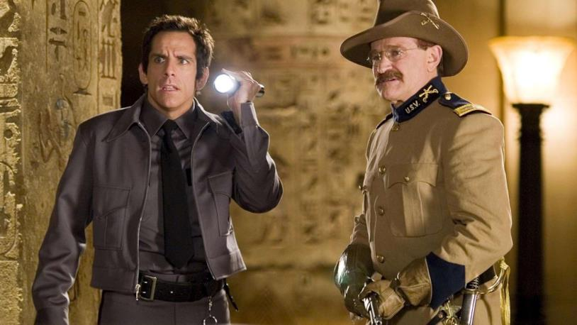 Ben Stiller e Robin Williams in una scena del film