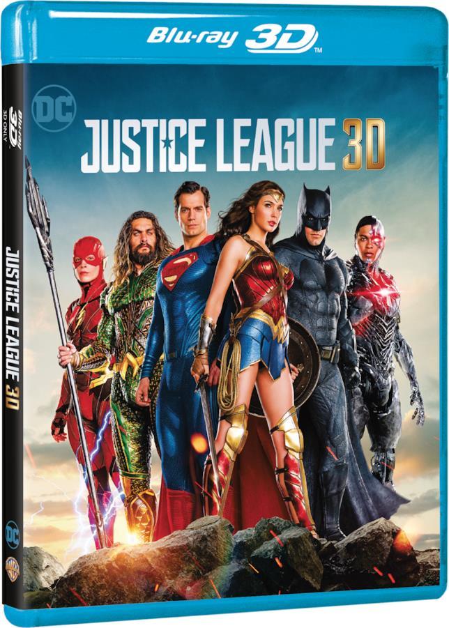 Cover del Blu-ray 3D di Justice League