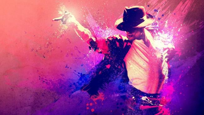 Un ritratto grafico di Michael Jackson