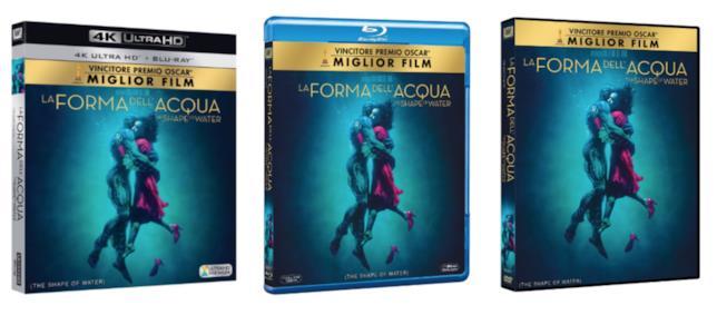 I tre DVD de La forma dell'acqua