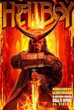Hellboy con corna e corona nel poster