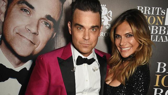 Robbie Williams e la moglie Ayda Field ai Brit Awards