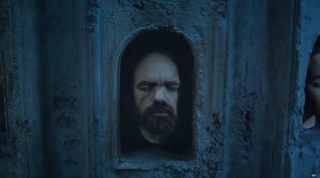 Il volto di Tyrion nella stagione 6 di Game of Thrones