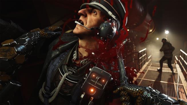 Un nazista viene ucciso in Wolfenstein II: The New Colossus