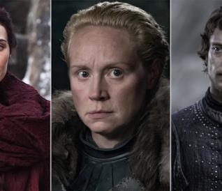 Gwendoline Christie nei panni di Brienne in Game of Thrones 8x02