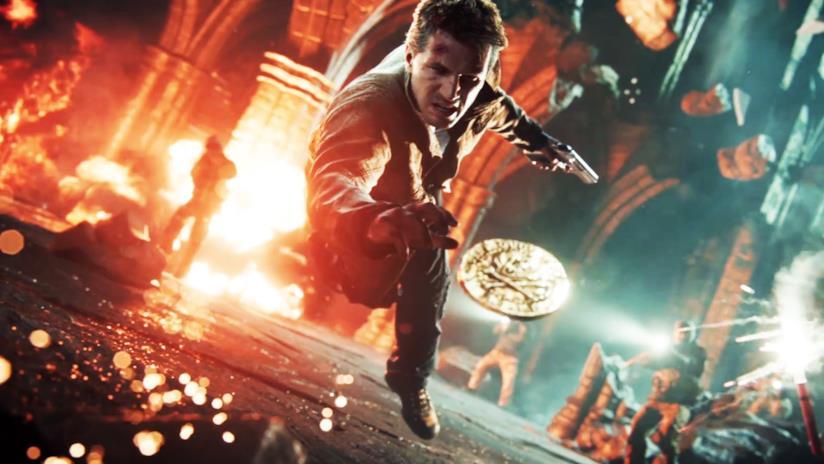 Nathan Drake in una sequenza di Uncharted 4: Fine di un Ladro