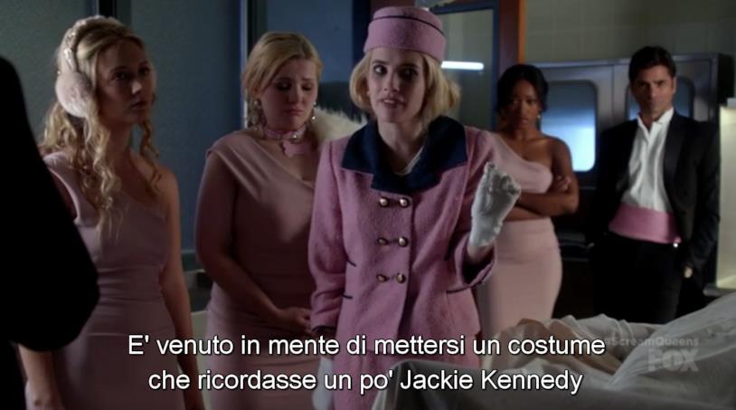 Chanel Oberlin vestita da Jackie Kennedy