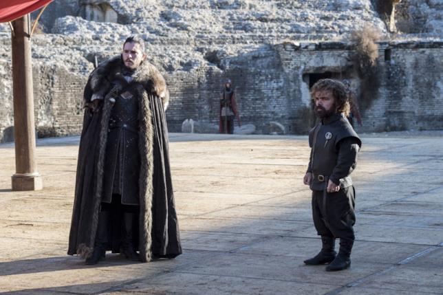 Game of Thrones: Jon Snow e Tyrion in un'immagine dal finale della stagione 7