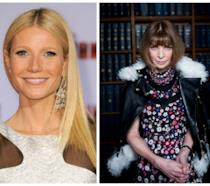 Primo piano di Gwyneth Paltrow e Anna Wintour