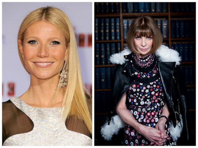 Primo piano di Gwyneth Paltrow e Anna Wintour