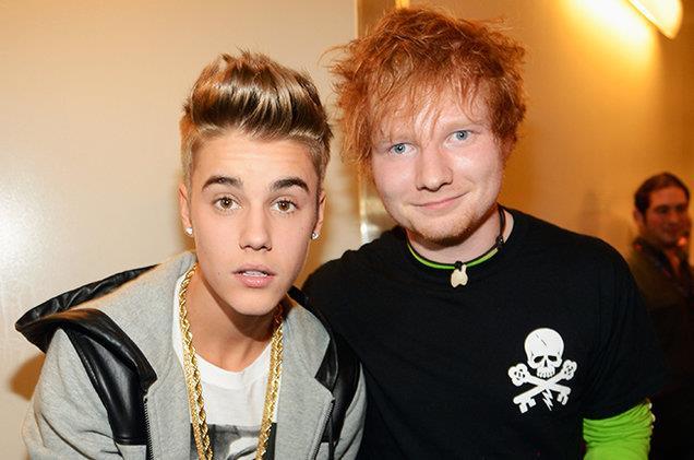 Justin Bieber e Ed Sheeran sono buoni amici