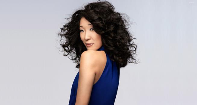 Elegante scatto dell'attrice Sandra Oh