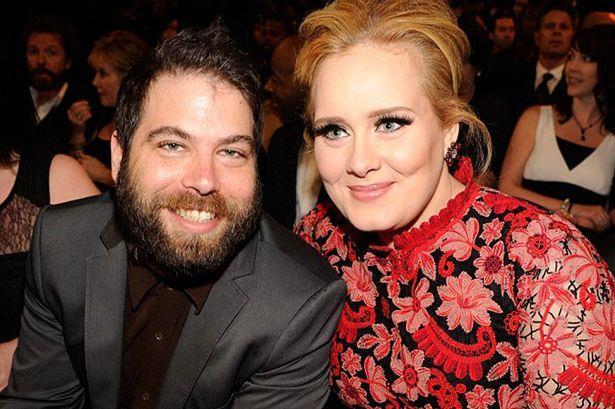 Primo piano di Simon Konecki e Adele