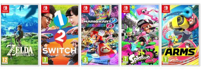 Nintendo Switch tutti i giochi disponibili