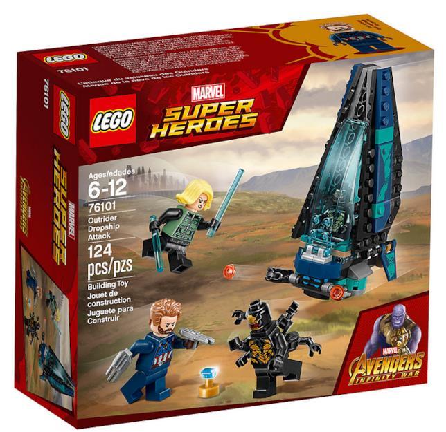 Dettagli del set di LEGO L'attacco della Dropship degli Outrider
