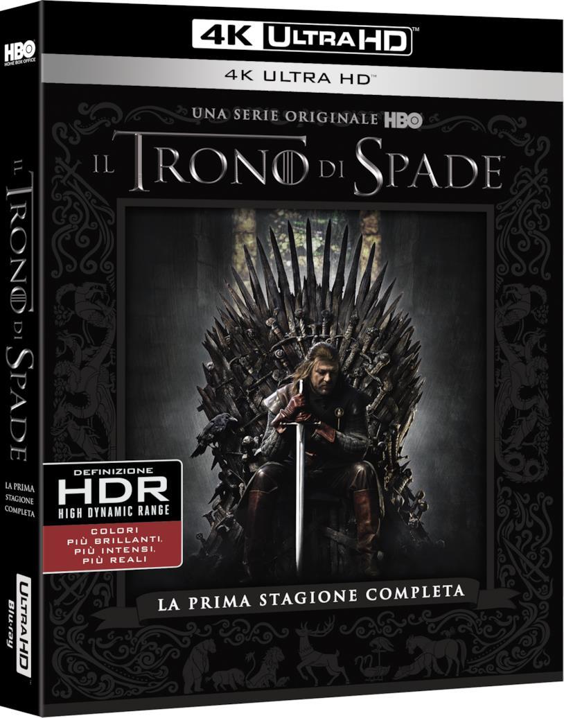 Il Trono di Spade 1, packshot della prima stagione in 4K UHD