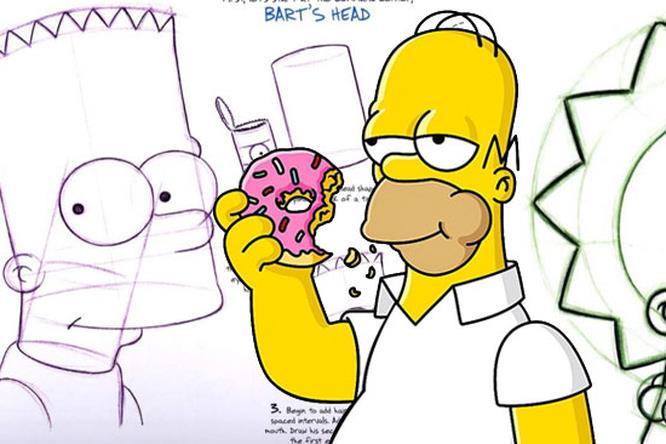 Homer disegnato da Matt Groening
