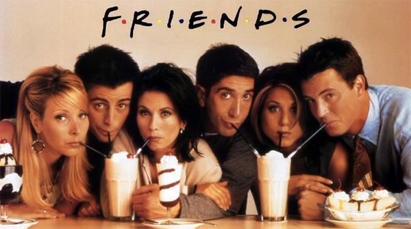 Tutto il cast della sitcom Friends: Lisa Kudrow, Matt Le Blanc, Courteney Cox, David Schwimmer, Jennifer Aniston e Matthew Perry
