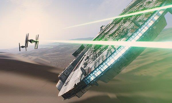 scena di Star Wars