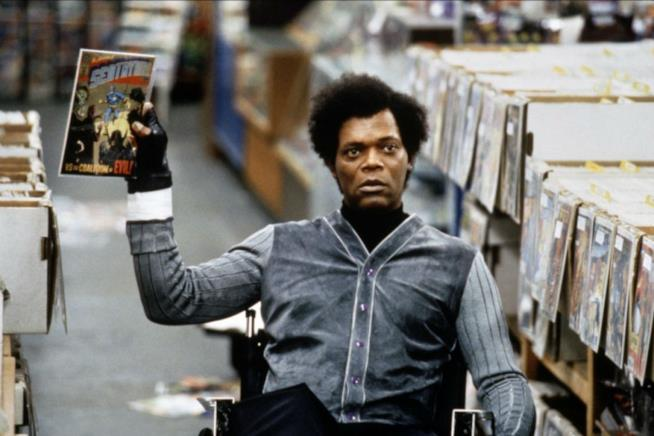 L'attore Samuel L. Jackson in Unbreakable