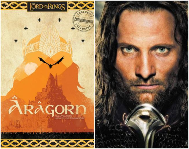 L'etichetta del vino ispirata ad Aragorn