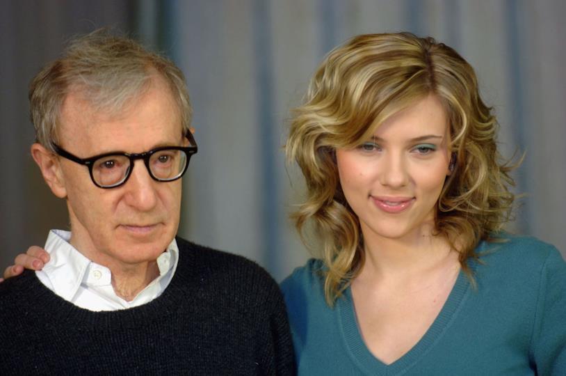 Woody Allen e Scarlett Johansson ad una premiere di Match Point