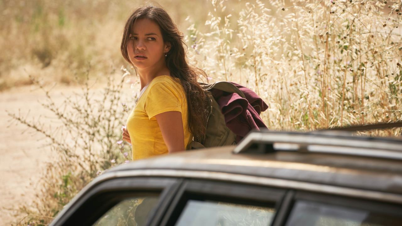 L'attrice Natalia Reyes in una scena di Terminator: Dark Fate
