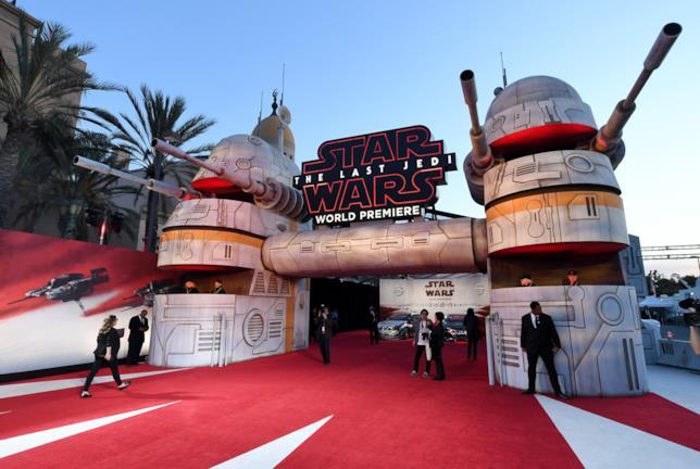 Il galattico red carpet della première di Los Angeles de Gli Ultimi Jedi