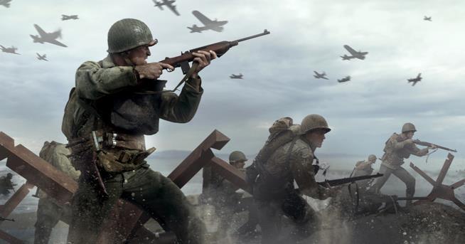Soldati all'attacco in CoD: WWII