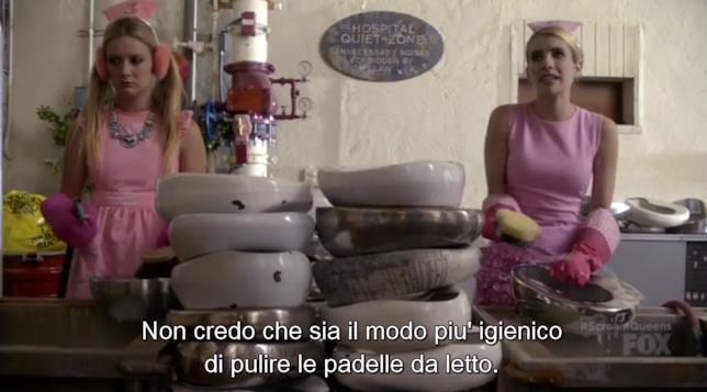 Chanel Oberlin e Chanel n°3 puliscono le padelle dei malati
