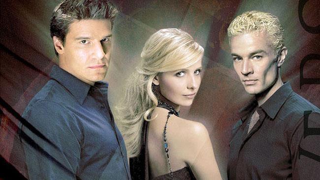 Angel, Buffy e Spike in una fanart di MarvelGirl