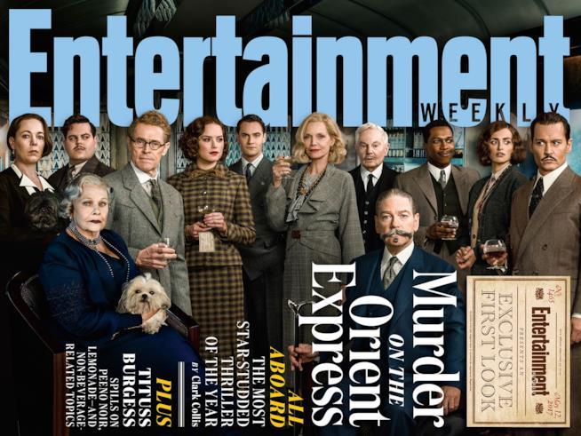 Il cast di Assassinio sull'Orient Express sulla cover di EW