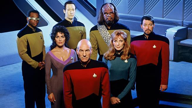 Il cast di Star Trek Next Generation