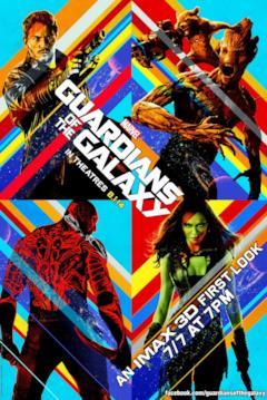 I Guardiani della Galassia nella locandina speciale per i cinema IMAX