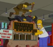 Homer in una sala giochi