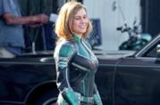 Brie Larson sul set di Captain Marvel