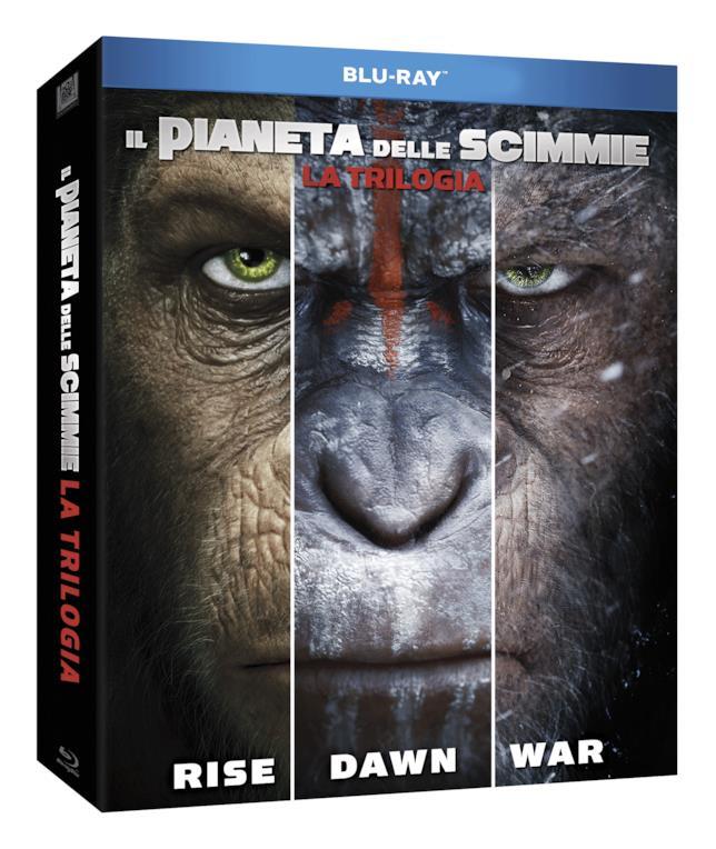 Il cofanetto Blu-ray della trilogia de Il pianeta delle scimmie