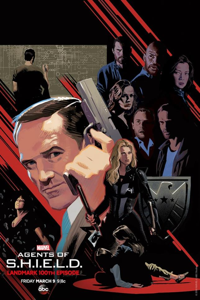 L'art poster di Marvel's Agents of S.H.I.E.L.D. - episodio 100