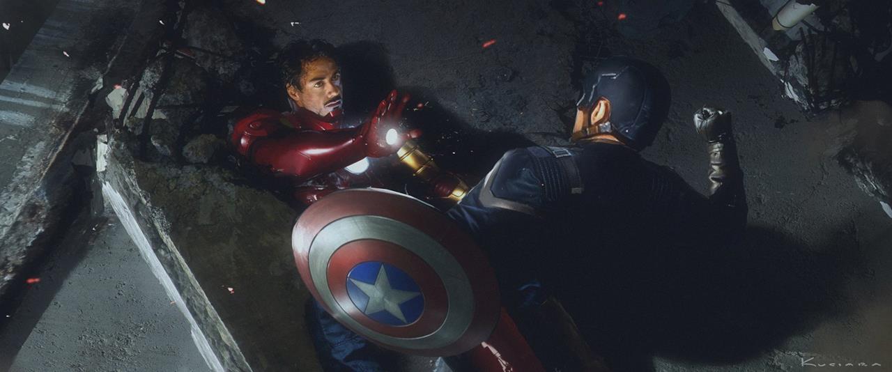 Capitan America e Iron Man si scontrano