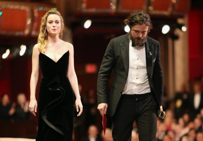 Casey Affleck e Brie Larson agli Oscar