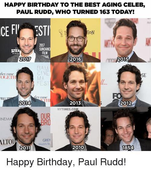 Paul Rudd negli anni, dal 1954 a oggi