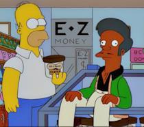 Homer Simpson e Apu nel Jet Market