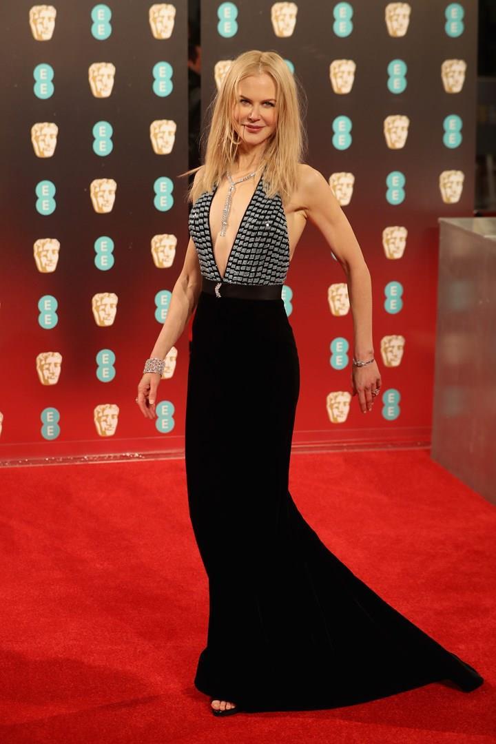 Nicole Kidman, il look ai BAFTA