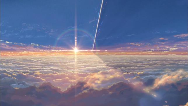 La cometa che cambierà i destini di Taki e Mitsuha nel cielo di Your Name